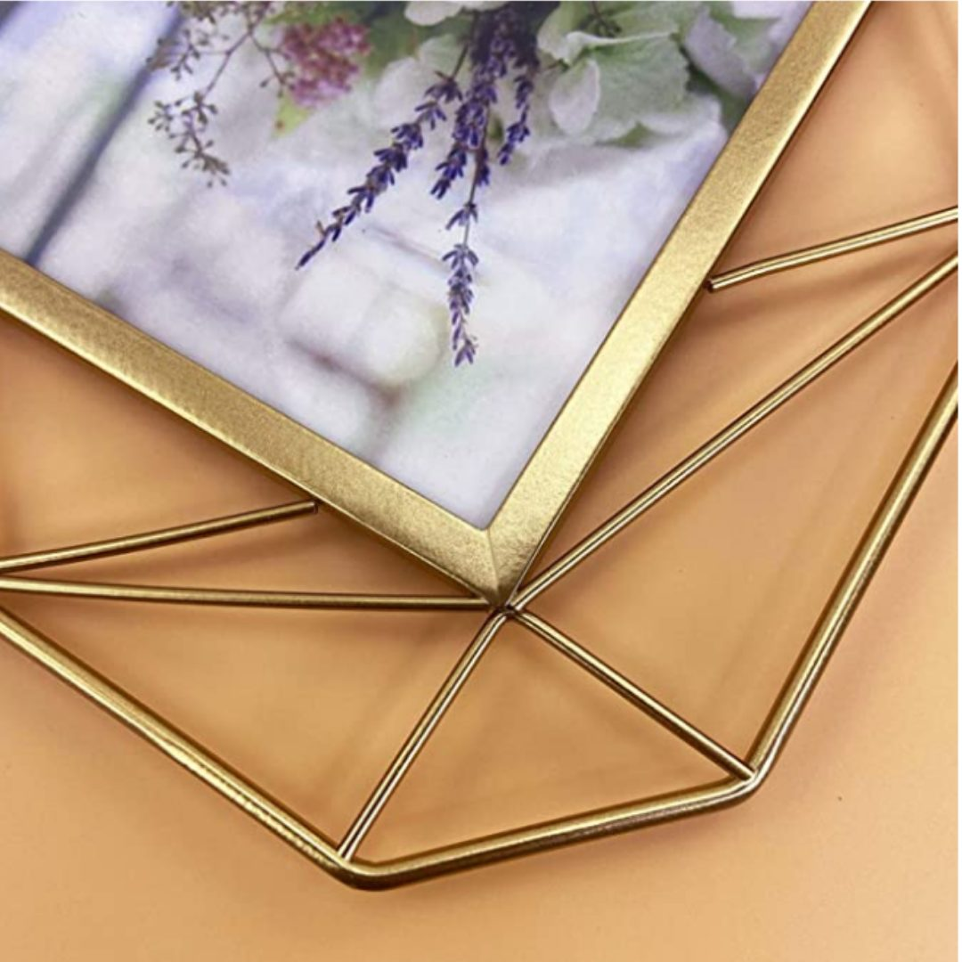 QUTREY Picture Frame 5x7 Set of 2, Metal Photo Frames 5 by 7 for Tabletop Display or Wall Mounting Decor