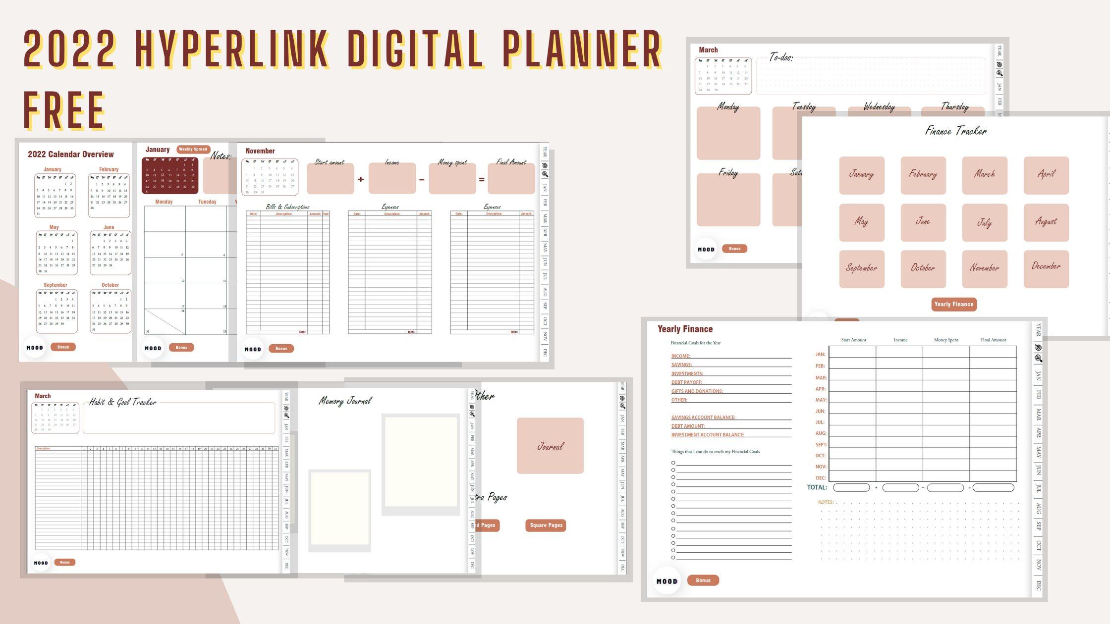 Free 2022 goodnotes digital Planner